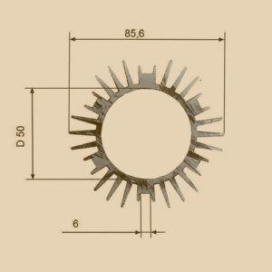 Алюминиевый профиль 1187