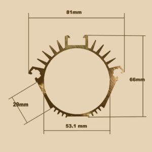 Алюминиевый профиль 1558